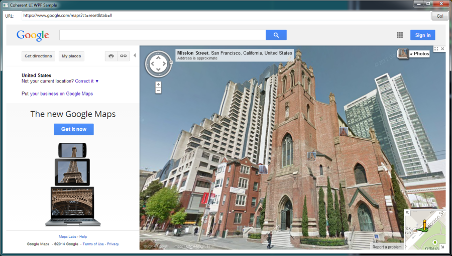 Google Maps in Coherent UI .NET