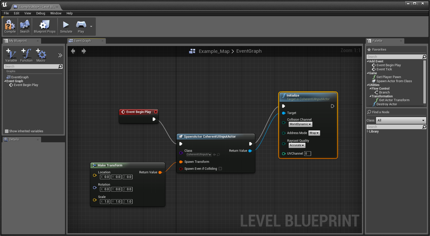 Presenting the unreal engine 4 blueprints support spawning the coherent ui input actor malvernweather Gallery