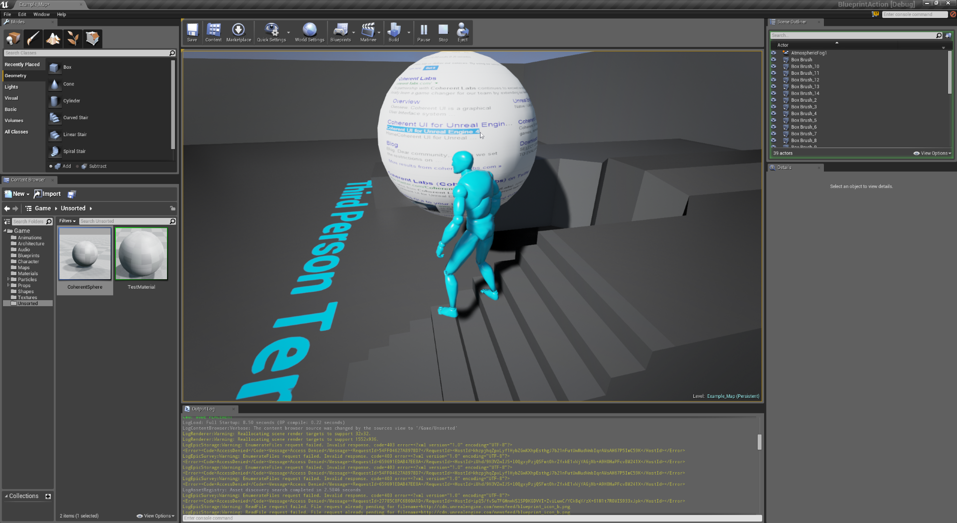 Presenting the unreal engine 4 blueprints support focused coherent ui view in the game malvernweather Images
