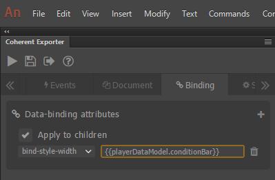 conditionBar data-binding attribute