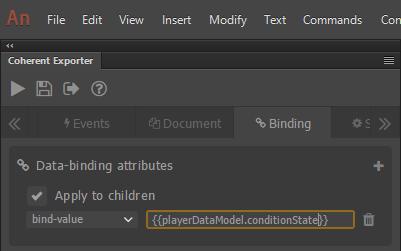 conditionState data-binding attribute