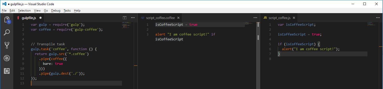 Gulp Coffee File Results