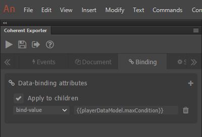 maxCondition data-binding attribute