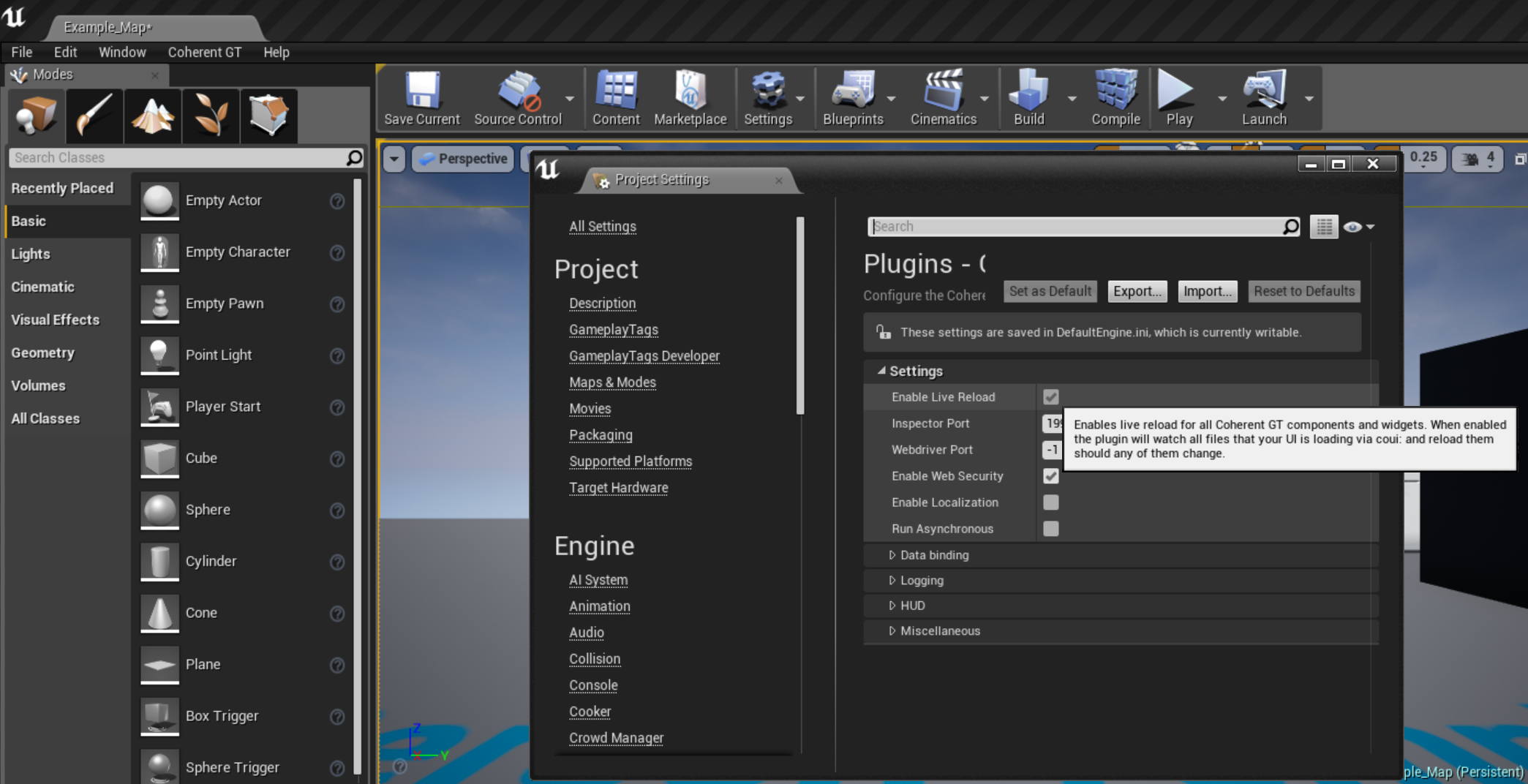 Live UE4 Editing - Coherent Prysm Documentation