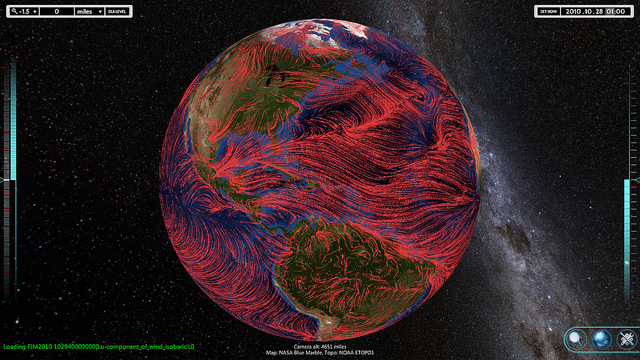 Flowing wind visualization from the FIM model