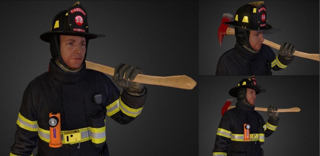 Blue Hawk Simulation 3D characters