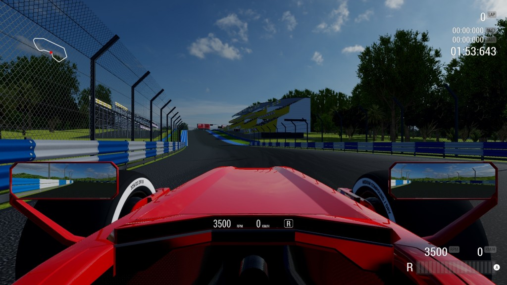 Customized car and track in Racecraft