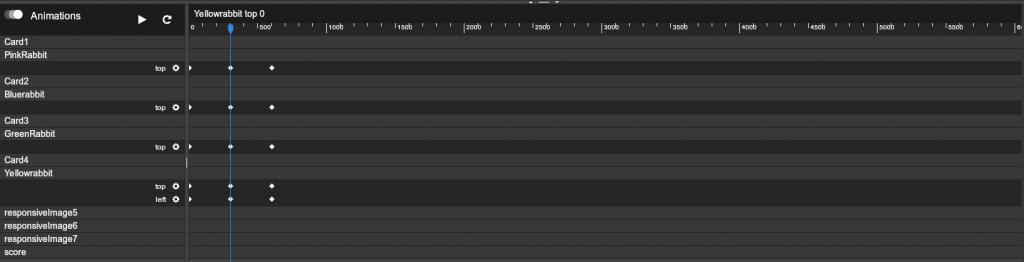 visual animations timeline editor