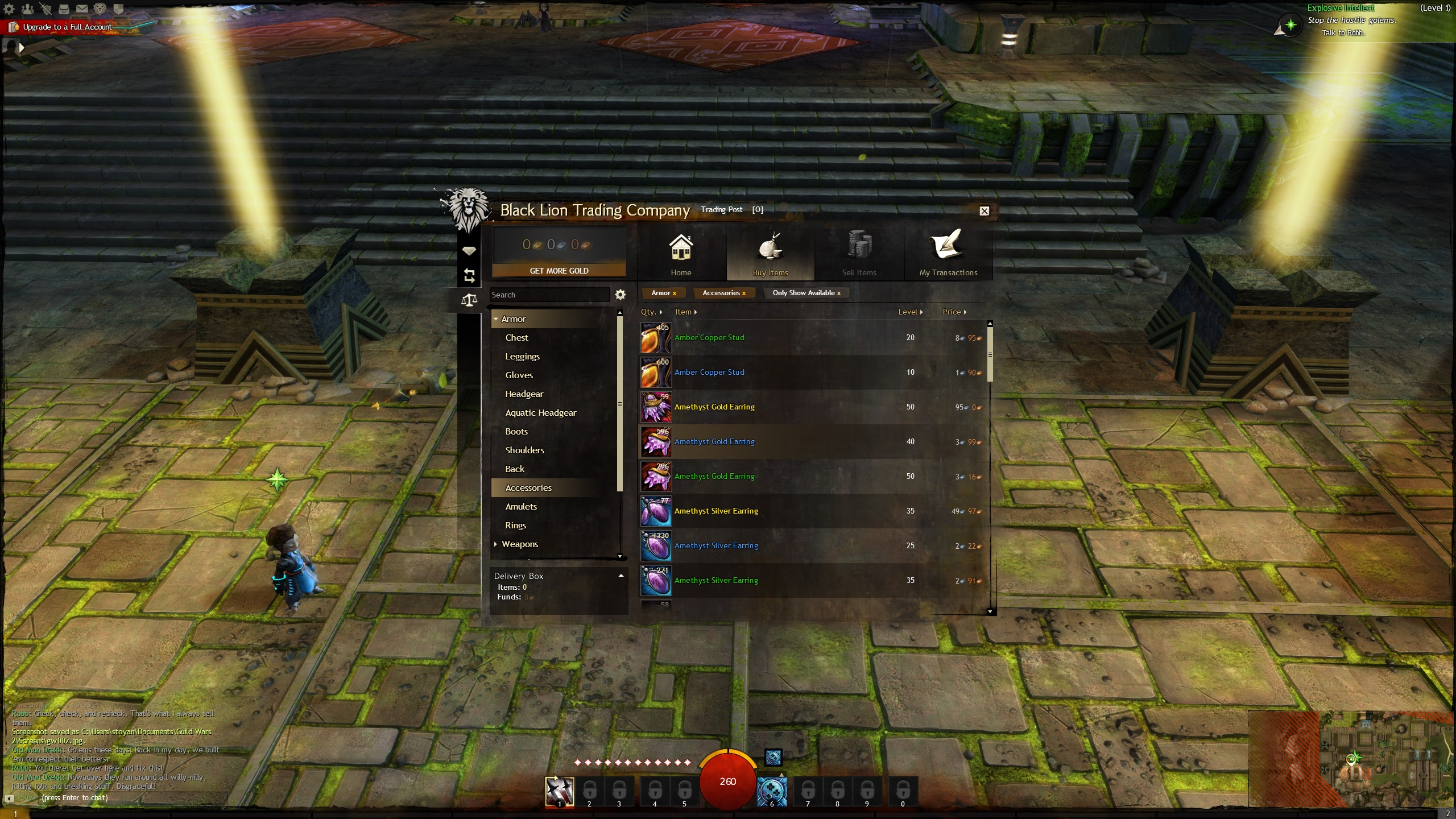 Black Lion Trading Post in-game shop, implemented with Coherent UI