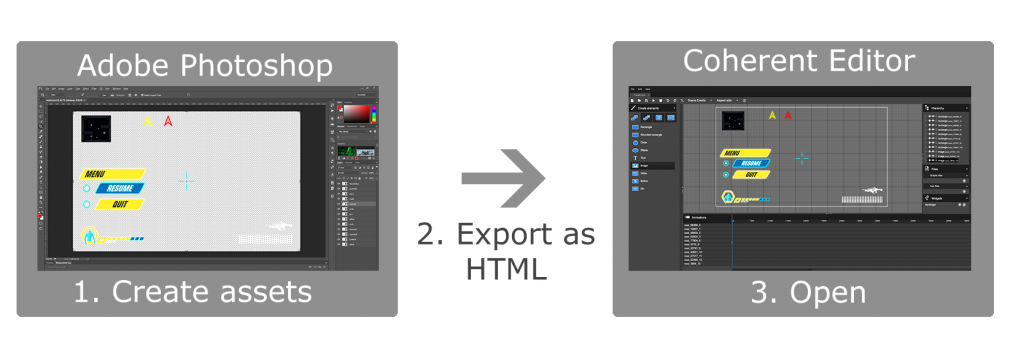 HTML UI design export