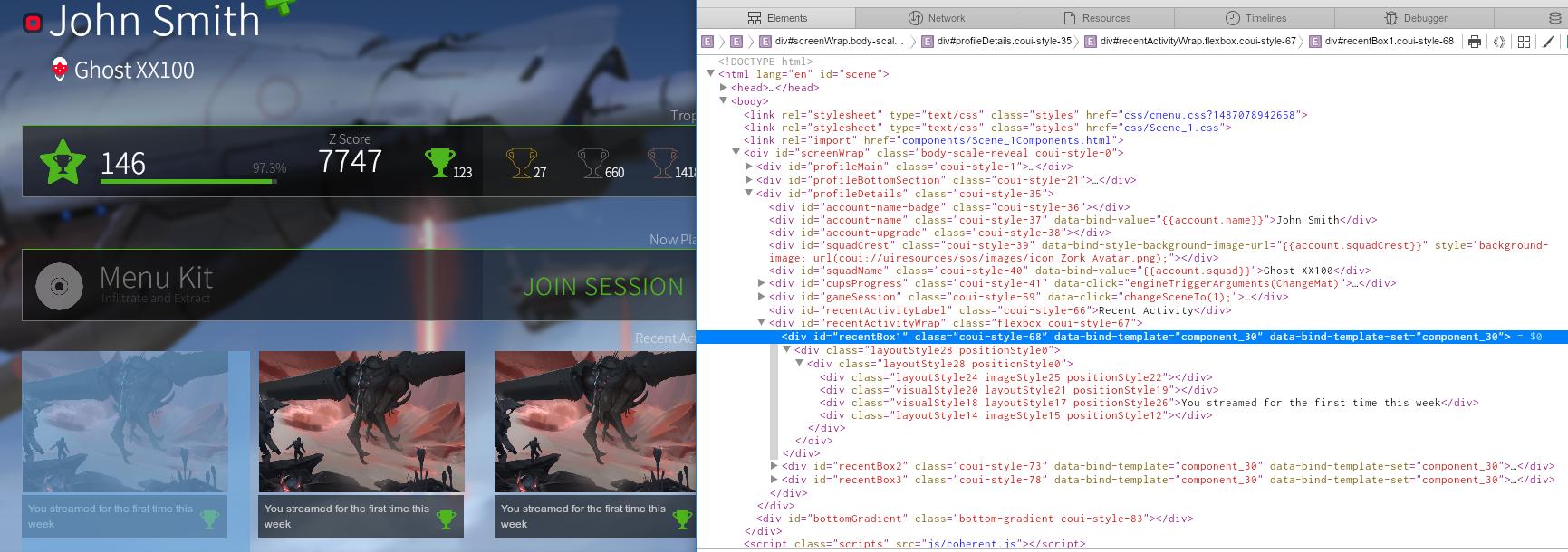 creating game UI in HTML tutorial