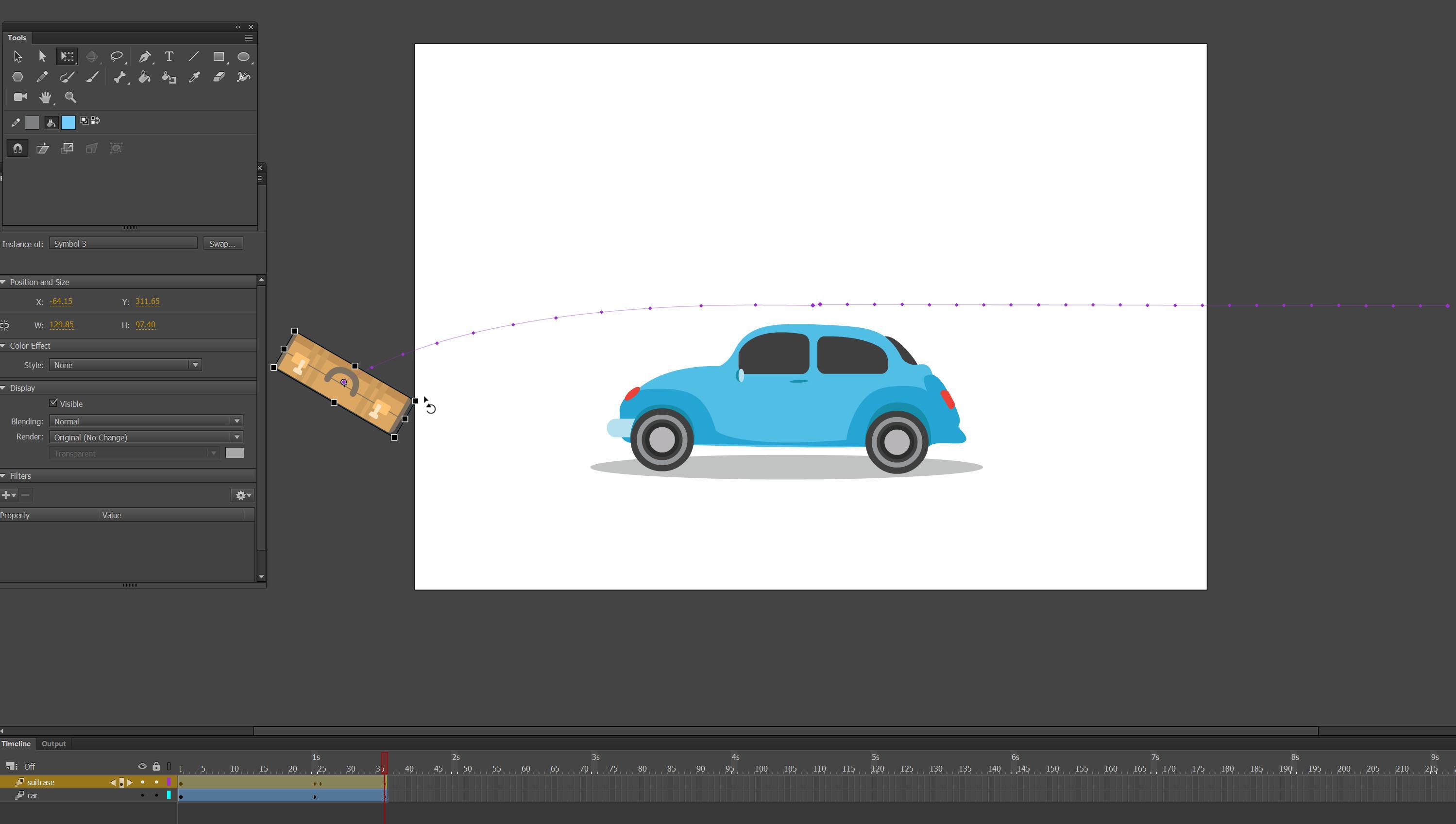 car motion tutorial