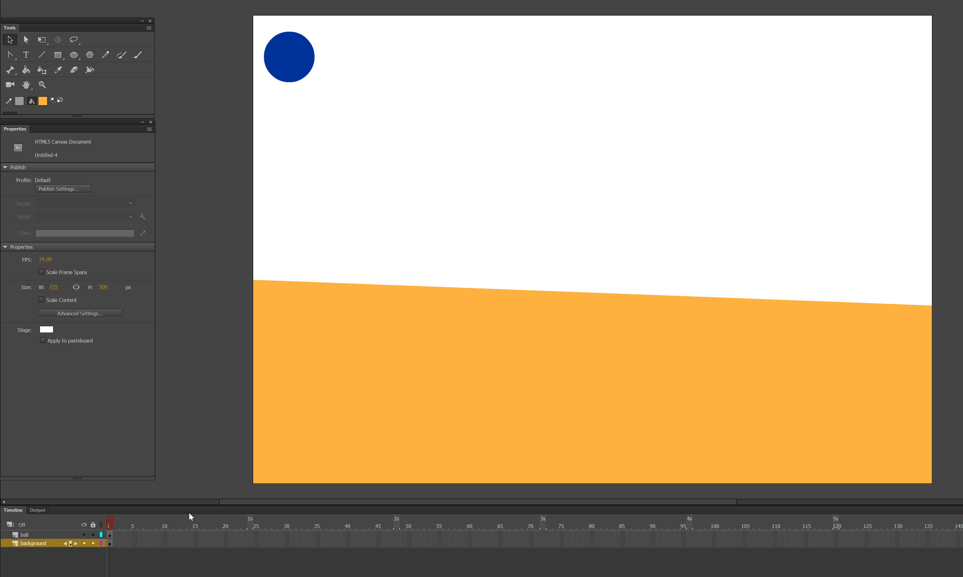creating a scene in Adobe Animate tutorial