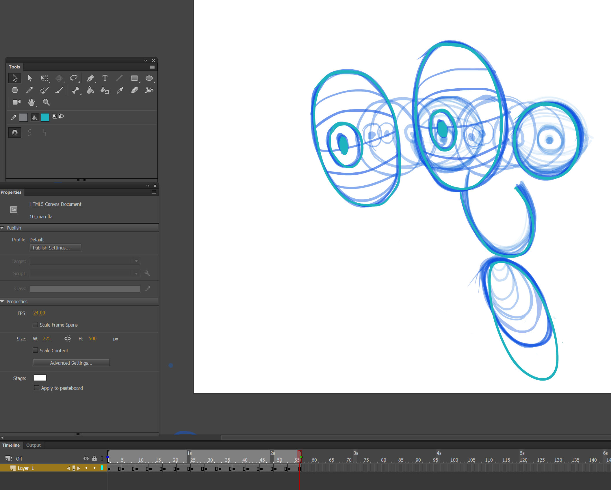 onion skin Adobe Animate