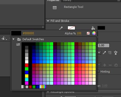 Adobe Animate color palette