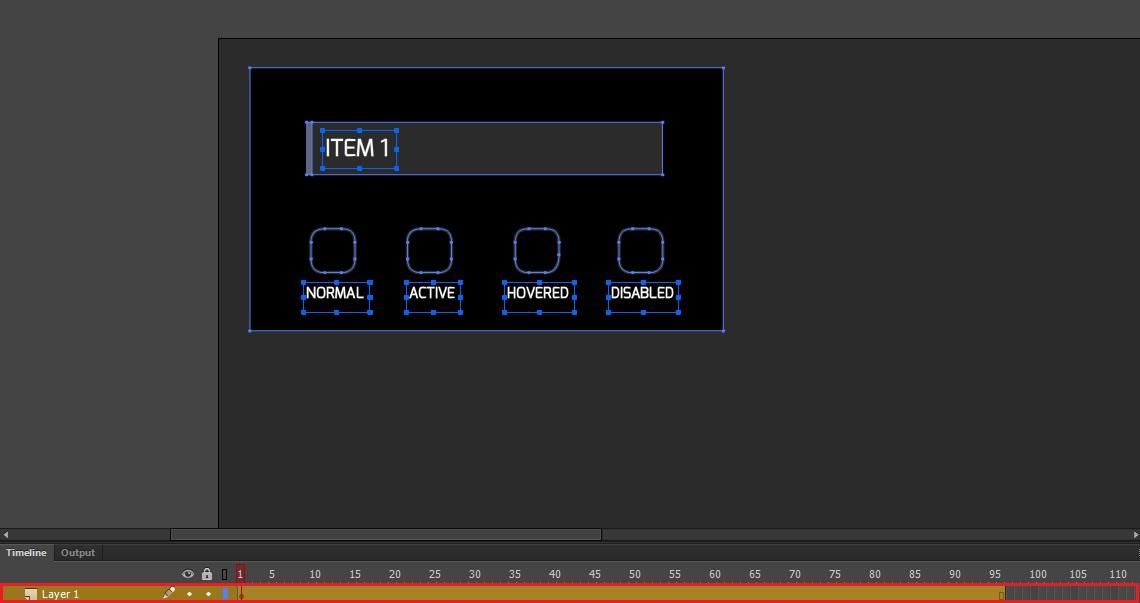 four-state button Adobe Animate tutorial