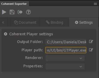 exporting UI to HTML