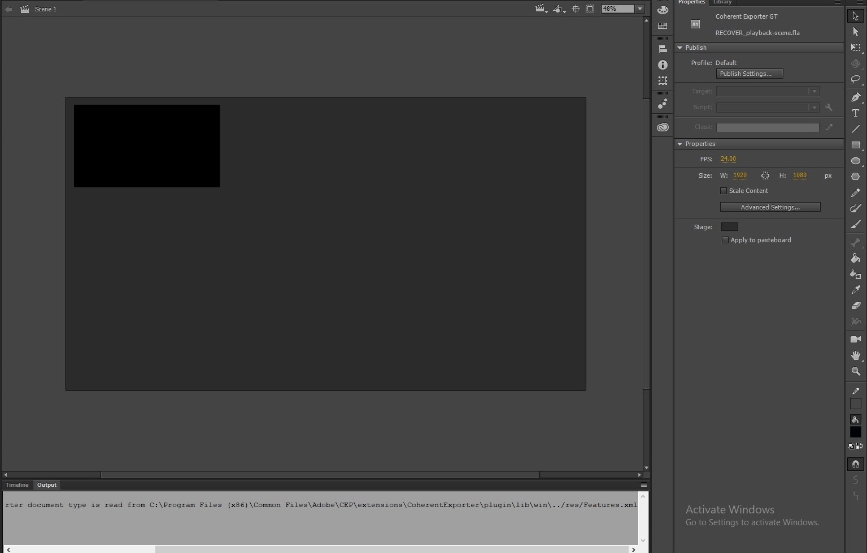exporting UI Adobe Animate tutorial