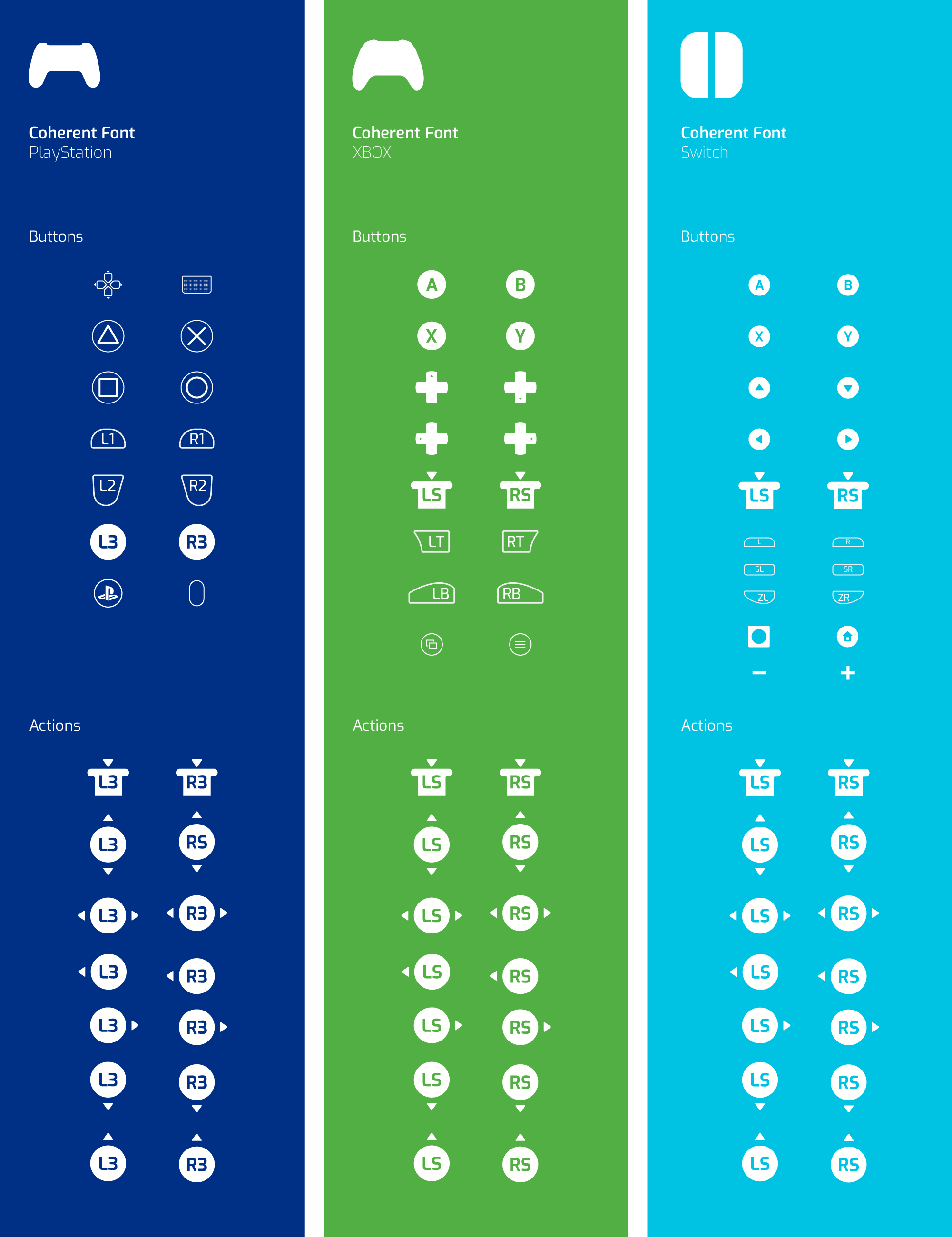 console buttons icons
