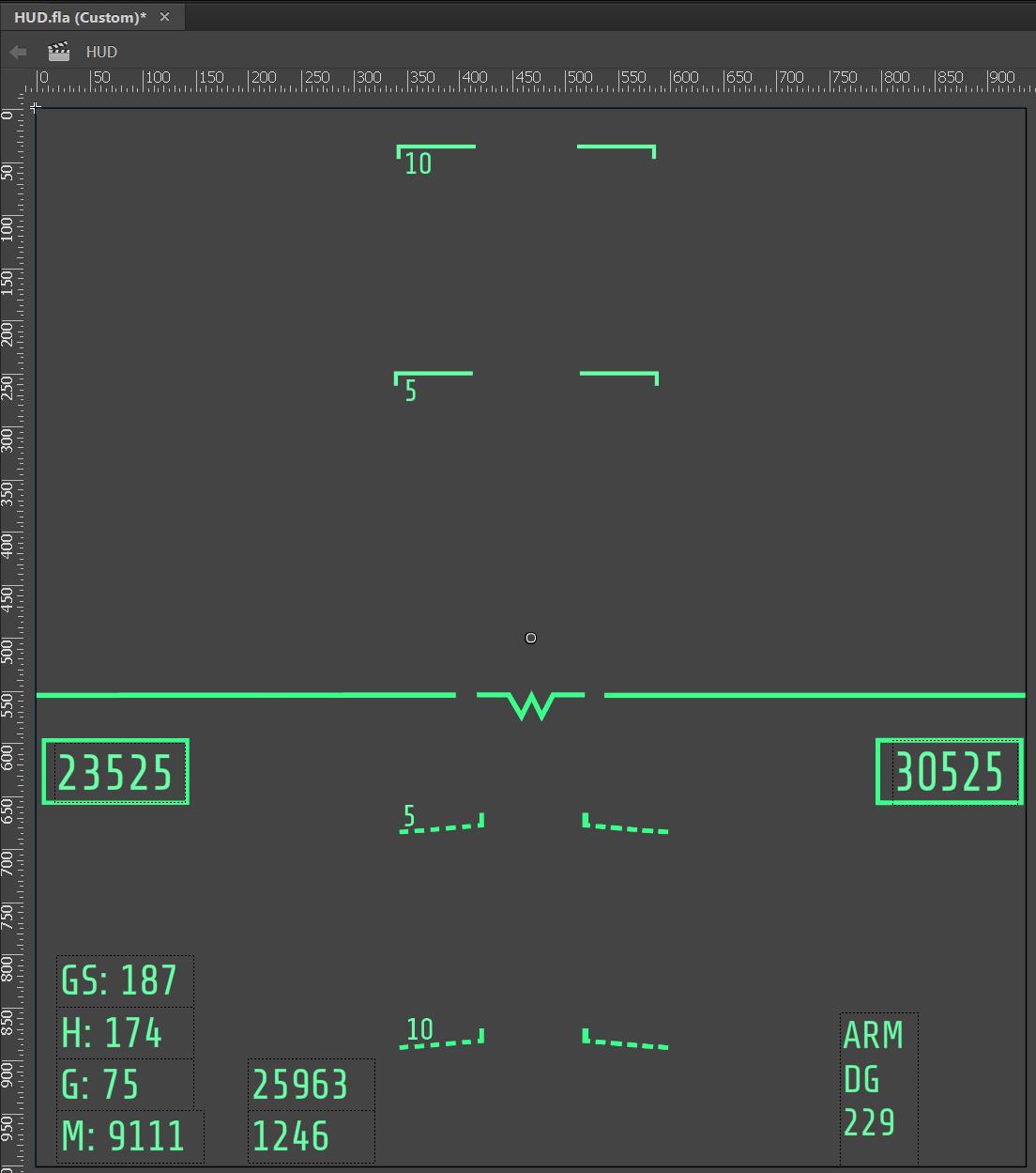 flight simulator HUD