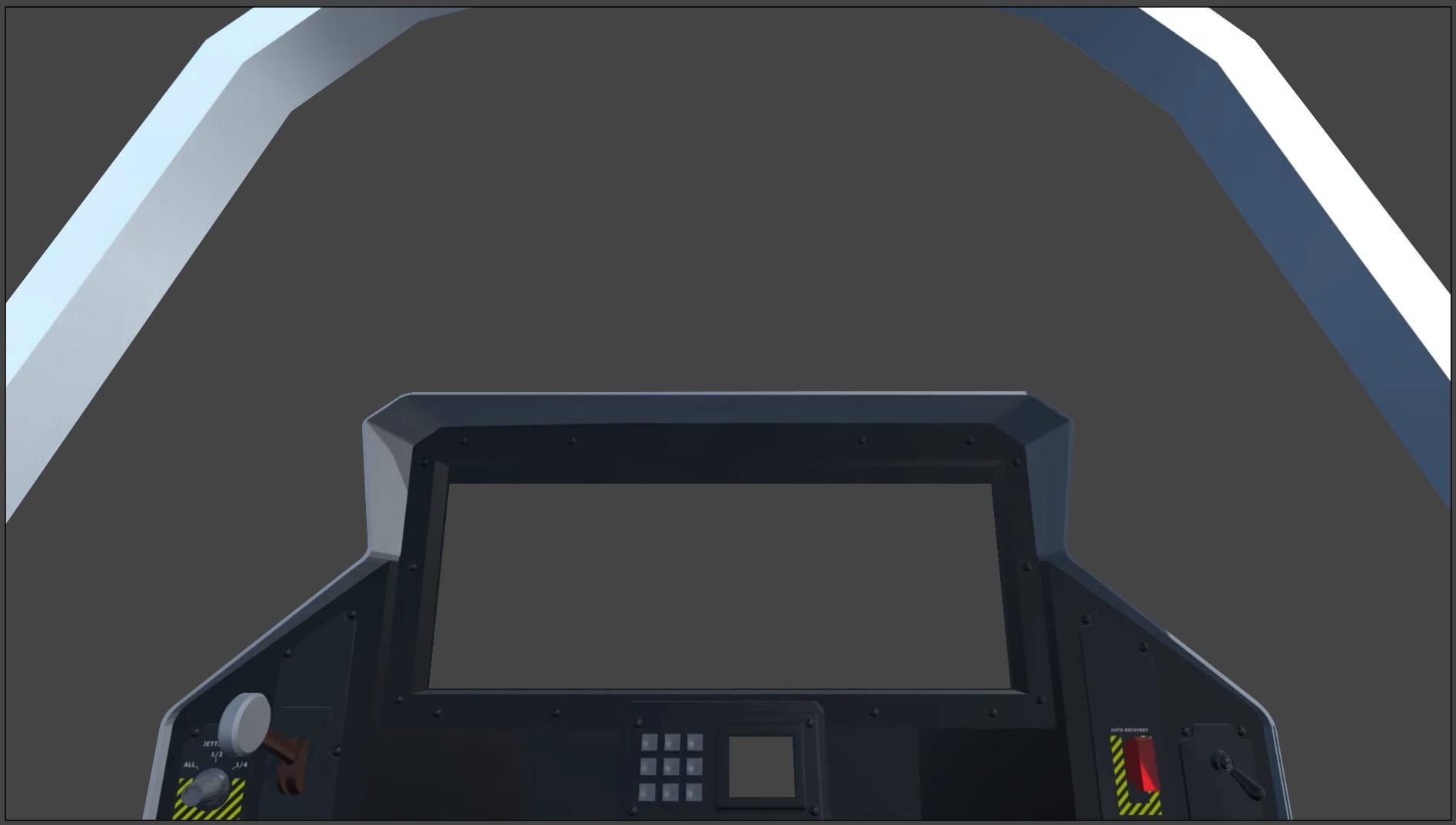 flight simulator UI